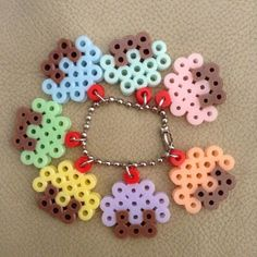 Mini cupcakes perler beads by pa_ngshop