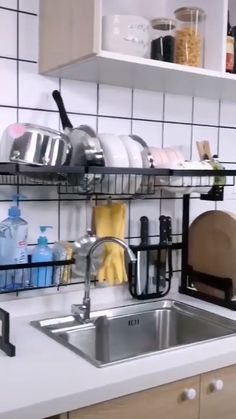 When you are preparing to do a small kitchen design layout, there are a few ways to improve both the … Cuisines Diy, Cuisines Design, Kitchen Dishes, New Kitchen, Fruit Kitchen Decor, Kitchen Rack, Awesome Kitchen, Kitchen Ideas, Kitchen Remodel Cost