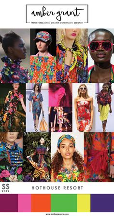 SS19, Spring Summer 2019, fashion trends, colour trends ...