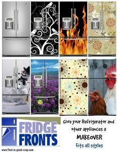 Fridge Fronts - Refrigerator Makeover - I sooooo want these