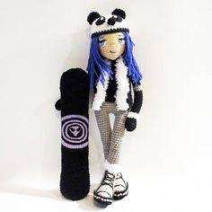 #doll #crochet #crochetdoll #amigurumi #amigurumidoll #handmade #handmadedoll #manga #anime #indie #snowboard #winter #instagood #dyd #knitting