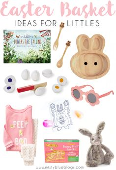 Here are some simple Easter basket ideas for kids that will keep their basket practical, but still fun and whimsical!