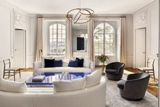 Geneva Apartment, Spanish Style Interiors, Calacatta Gold Marble, Decorative Mouldings, Vintage Walls, House Tours, Modern Art, Master Bedroom, Dining Chairs