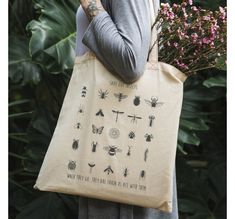 Save the insects - totebag Toms, Reusable Tote Bags