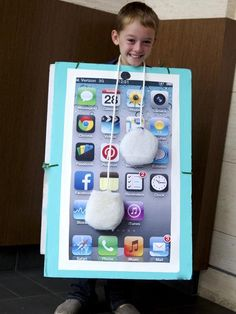 17. iPhone with Earbuds | Community Post: 21 Cute And Clever DIY Halloween Costume Ideas For Kids