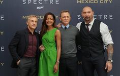 Christoph Waltz,  Naomie Harris, Daniel Craig, and Dave Bautista attend a photo call to promote the new film 'Spectre' on November 1, 2015 in Mexico City, Mexico.