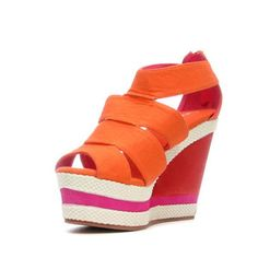 Aedyn Wedge Coral, $41.65, now featured on Fab.