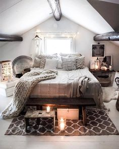 Bohemian Bedroom Decor And Bed Design Ideas - Schlafzimmer Stylish Bedroom, Modern Bedroom, Modern Bohemian Bedrooms, Home Interior, Interior Design, Bohemian Bedroom Decor, Cosy Bedroom Romantic, Cosy Bedroom Decor, Adult Bedroom Decor