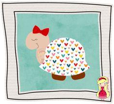 Stúdio E.V.A.: Tartaruguinha, casco corações