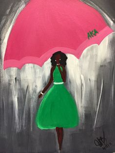 """""""I would love this piece for my apartment"""" Aka Sorority, Alpha Kappa Alpha Sorority, Sorority Life, Pink Love, Pretty In Pink, Pink And Green, Pretty Girls, Sorority Pictures, Alpha Art"""