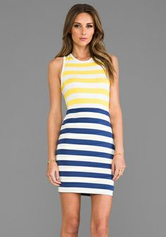 DV by DOLCE VITA Shondra Dress in Multi Stripe - Resort Wear 2014