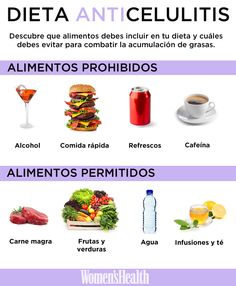 Alimentos prohibidos y permitidos para luchar contra la celulitis