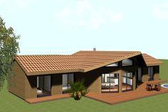Maison bois demi-ronde Oriane de plain pied - Jusqu'à 140m²