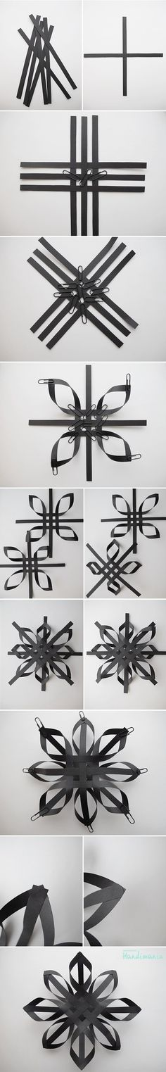Black Paper Snowflake:
