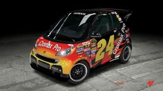 If nascar would race smart cars, this is what #24 would look like!