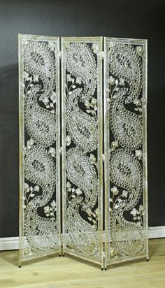 Lunar Metal Screen by Arthouse : Wallpaper Direct Metal Room Divider, Room Divider Bookcase, Room Divider Screen, Room Dividers, Metal Screen, Glass Screen, Feng Shui, Screen Design, Stained Glass Art