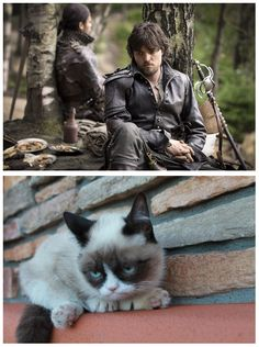 The Musketeers - Athos plays 'spot the difference', personally, I can't see any, you? Totally nailed it!