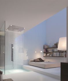 "The super-prolific Philippe Starck has a knack for streamlined bathroom design, from the clean silhouette of Duravit's high-tech Sensowash Starck ""shower-toi. Douche Design, Ensuite Bathrooms, Shower Bathroom, Bathroom Closet, Glass Shower, Bathroom Ideas, Luxury Bathrooms, Shower Ideas, Bathroom Vanities"