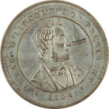 Abraham Lincoln For President 1864 Campaign Medal.