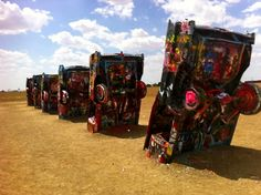 Cadillac Ranch; Armarillo, Texas...I've driven by this & always wanted to stop & take pictures.