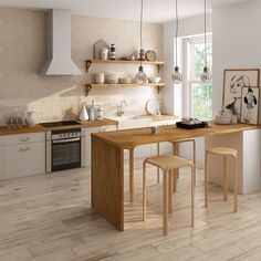 32 Amazing Modern Wood Kitchen Design Ideas - Unless you plan to spend the rest of your life in your current home if you are planning a kitchen makeover then best advice is not only to think about. Kitchen Decor, Kitchen Inspirations, Scandinavian Kitchen Design, Scandinavian Kitchen, Small Kitchen, Home Kitchens, Wood Kitchen, Minimalist Kitchen, Rustic Flooring