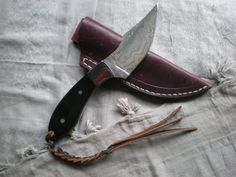 BSJ Custom Damascus Big Game Hunting Knife by BSJKnivesofAlaska