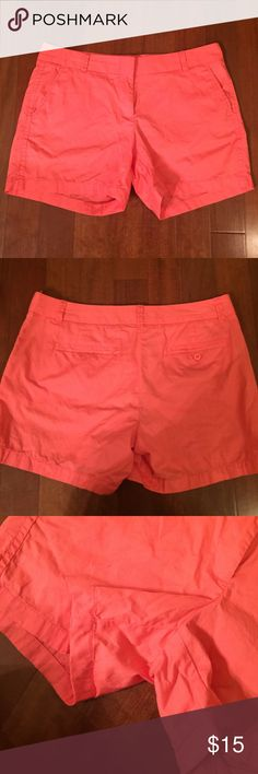 J. Crew Coral Shorts Great condition! Perfect staple for your closet! J. Crew Shorts