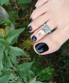 Toe Ring  Dolphin Charm Silver  Crystal  Stretch Bead Toe Ring by FancyFeetBoutique, $6.25