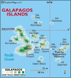 Darwin & Wolf Islands: Map of the Galapagos Islands