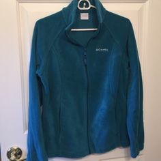 Womens Columbia Fleece Very pretty teal color, in perfect condition. Worn only a couple of times. Columbia Tops Sweatshirts & Hoodies