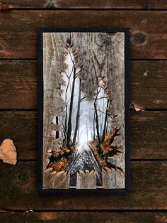 This sunflower is hand carved into a mini barn door. Hang this wood art on your wall, above your desk, above your bed and so much more. This piece is perfect for your rustic home decor space. Wood Burning Crafts, Wood Burning Art, Wooden Art, Wood Wall Art, Art On Wood, Tree Wall Art, Tree Art, Rustic Wood Crafts, Diy Wood