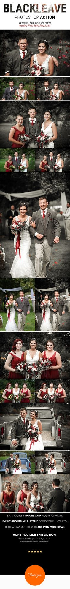 BLACK LEAVE | Special Effects Photoshop Action for Wedding Photographer