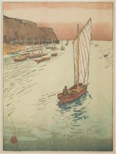 European Artists - Original Woodblock Prints Woodblock Print, Japanese Art, Impressionism, Sailing Ships, Art Decor, Fine Art, The Originals, Gallery, Artist