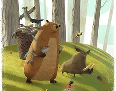 Story about how the forest animals preparing for war :)Used photoshop and wacom intuos. Book Illustration, Illustrations, Wacom Intuos, Forest Animals, Album Covers, Character Design, Behance, Photoshop, Animation
