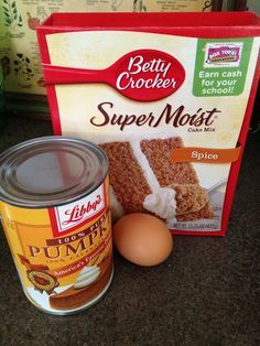 100 cal Pumpkin Spice Muffins - 1 Box Spice Cake Mix, 1 Can of Pure Pumpkin, 1 Egg. *Sprinkle some cinnamon & Sugar on top before baking. Makes 18 Muffins. 325 for 15 min.