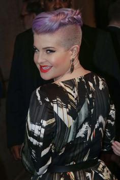 Kelly Osbourne's French plait - short hair up-do ideas - Cosmopolitan.co.uk