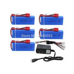 5 pcs batteries+charger2500mAh 7.4V 25C Quadcopter Drone Syma X8C X8W X8G RC Li-polymer Battery 903475 Toy Lithium Battery