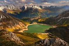 Spullersee, Lechquellen Mountains, Austria by Sebastian Plonka  A peaceful sunset in the heart of Lechquellen Mountains, Austria, over the beautiful lake named Spullersee. This picture was taken during a small trekking...  http://lp-mag.com/gtyj