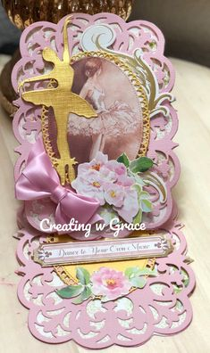 Excited to share this item from my shop: Dance to Your Own Music Easel Card Anna Griffin Inc, Anna Griffin Cards, Pop Out Cards, Step Cards, Diy Cards, Side Step Card, Card Book, 3d Paper Crafts, Shaped Cards