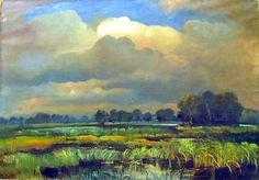 Jihočeský rybník, cca 1925 | olej na plátně, 85 × 120 cm
