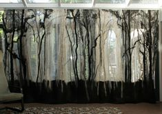 Sheer, felted panels by Adrian Salome. This is exquisite! What a lot of work though...
