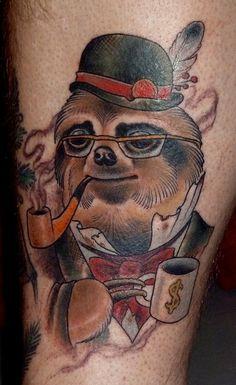 @Sabrina Stevens sloth tattoo by ryan mason at scapegoat tattoo