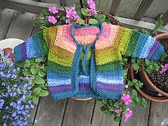 Ravelry: Tulips, A Colorful Cardigan for Baby pattern by Lindsay Pekny