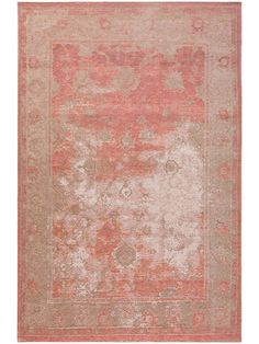 Rugs of the benuta collection FRENCIE enchant you right away with a trendy vintage design. Their surface looks like it has aged naturally due to a used-look effect, which gives the rugs an authentic, antique look. Shabby, Vintage Rugs, Vintage Designs, Latex, Modern, Flooring, Antiques, Pink, Pattern
