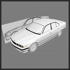 BMW 5 Series (E34) Paper Car Free Template Download - http://www.papercraftsquare.com/bmw-5-series-e34-paper-car-free-template-download.html