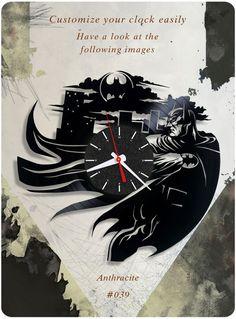 Batman vinyl clock, wall clock. vinyl clock, kids clock gift clocks 039