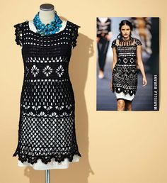 Das Häkelkleid im Stil von Mariella Burani ist ein Modell für Geübte. Die kostenlose Häkelanleitung finden Sie hier zum Herunterladen