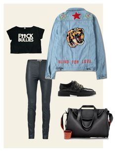 """Gigi Hadid Inspiration"" by giulimonwoow on Polyvore featuring moda, Noted*, Boy Meets Girl, Burberry e The Row"