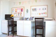 craft room DIY cabinet desk