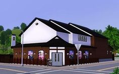 """Mod The Sims - Japanese style tourist spot """"Small theater"""""""